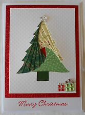 "Iris Fold Merry Christmas Tree Card  5"" x 7"" BUY ANY 3 SHIP FREE"