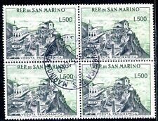 SAN MARINO 1958 586 gestempelt im VIERERBLOCK 280€(J9008