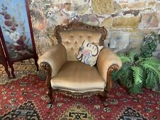 Vintage French Louis Style Wingback Chesterfield Lounge ArmChair~Chair