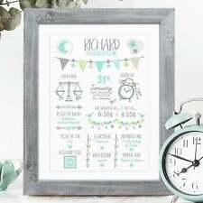 Personalised New Baby Gift / Christening Gift / Baby Boy Girl Birth Print Gift