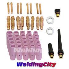 TIG Welding Kit (0.040-1/16-3/32-1/8) for Torch 17/18/26 46pcs T20 | US Seller