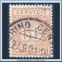 1913 Italia Regno Servizio Commissioni cent. 60 arancio n. 2 Usato