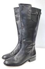.EUC Ann Taylor Black Leather Knee High Riding Boots, Sz 9M