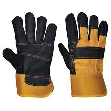 Arbeitshandschuhe Möbelleder Handschuhe schwarz-gelb Portwest® Bau Forst Galabau