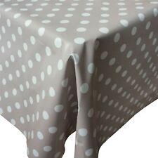 RUSTIC BEIGE PVC Tovaglia in tessuto con macchie bianche 23mm (al metro)
