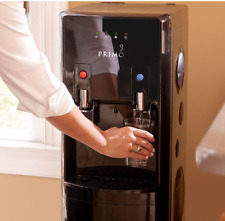 Hot And Cold Water Cooler Dispenser Kid Safety 5 Gal Bottom Load Black Stainless