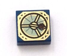LEGO COMPASS ~ Square Dark Blue 1x1 Tile with Compass Printed Pattern * NEW *