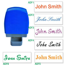 Custom Name Signature Personalised Self Inking Stamp1 Line 31x10mm 6 fonts 8col