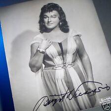 "BIRGIT NILSSON Autographed METROPOLITAN OPERA Verdi's ""Aida"" Studio PHOTO"