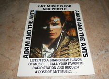 ADAM AND THE ANTS Rare US Promo Post Card For Kings Of The Wild Frontier 5X7