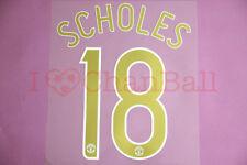 Scholes #18 2006-2007 Manchester United CL Homekit Nameset Printing