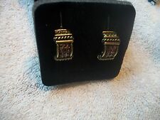 HEIDI DAUS Earrings NIB Clip On Multi Swarovski CRYSTALS Bronzetone Free Ship