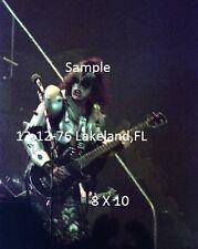 Kiss 1976 Gene Simmons Color 8 X 10 Photo 2 Lakeland,FL Shock Me