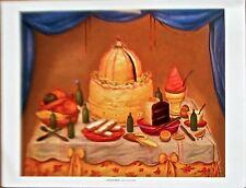 Fernando Botero Reprint of Bon Anniversarie 14x11 Offset Lithograph Unsigned