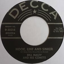 BILL HALEY: HOOK, LINE, and SINKER / FORTY CUPS OF COFFEE rare DECCA 45 nice