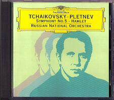 Mikhail Pletnev: Tchaikovsky Symphony No. 5 & Amleto DG 4d CD 1996 Ciaikosky