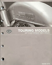2007 HARLEY-DAVIDSON TOURING MODELS PARTS CATALOG MANUAL -NEW-FLHTCU-FLTR-FLHR