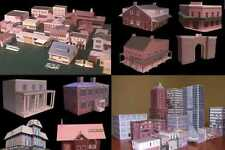(150) PAPER MODEL BUILDINGS HO Scale Cut Assemble Railroad 3D N Craft Digital CD