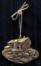 Case Inter Harvester Tractor Pewter Christmas Ornament