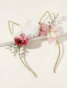 Flower Decor Cat Ear Hair Hoop