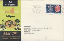 1ER VOL - FIRST FLIGHT - LONDRES MANILLE - BOAC - 1961