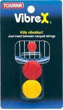 Tourna VibreX Tennis String Vibration Dampener-Racquet Shock Absorber-2 Pack