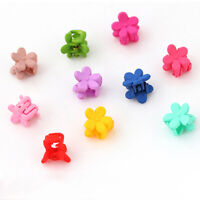 10*Mixed Girls Mini Small Plastic Flower Hair Clips Clamps Hairpin Claws J2X1