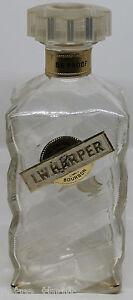 "I.W. Harper Kentucky Bourbon 86 Proof Empty 4/5 quart 8.5"" Glass Bottle Decanter"