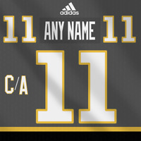 Vegas Golden Knights Adidas Dark Jersey Any Name Any Number Pro Lettering Kit