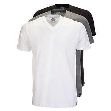 Dickies - Camiseta Paquete Hombre 3x cuello redondo en V Negro/gris / blanco