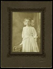 Antique Photo ID'd Girl Carrie M Smith With Wristwatch Coles Studio Newport PA