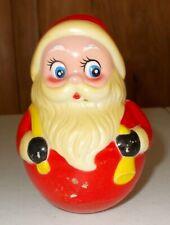 Vintage Plastic Rolly Polly Santa Kiddie Products
