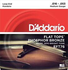 D'Addario EFT76 Phosphor Bronze Flat Tops Mandola Strings Medium 16-53 Loop End