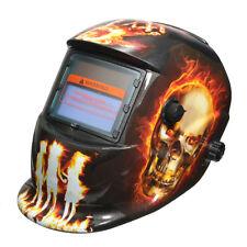 Hellfire Pattern Solar Auto Darkening Welding Helmet Weld Mask Arc Mig Tig Grind