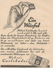 Y6640 WEBER'S Carlsbader -  Pubblicità d'epoca - 1927 Old advertising