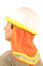 3 Safety Hard Hat Neck Shield Helmet Sun Shade Hi Vis Reflective Stripe Orange