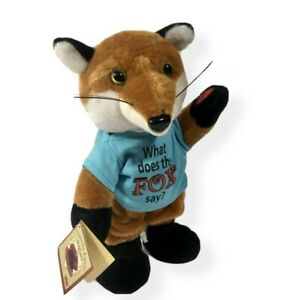 """New Chantilly Lane The Fox 12"""" Musical Plush Dances Sings What Does The Fox Say?"""