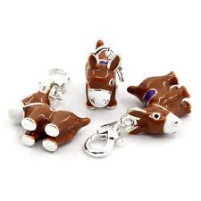 LOVE Clip On Charms Link Chain Bracelets Enamel Donkey Silver 50