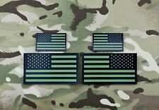 Infrared US Flag Standard & Mini Full Patch Set IR Army Navy Air Force Green