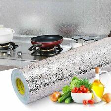 Self Adhesive Aluminum Foil Kitchen Wall Sticker Wallpaper Oil-proof Waterproof