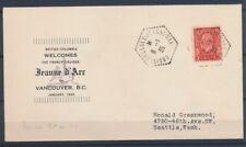 1935 Env. 3c CANADA Obl. CROISEUR-ECOLE-JEANNE-D'ARC, arrivée, Sup. X1465