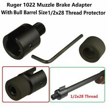 "Ruger 10/22 1022 1/2""x28 Thread Muzzle Adapter knurled Steel Thread Protector"