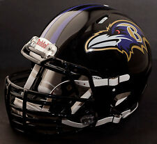 *CUSTOM* BALTIMORE RAVENS NFL Riddell SPEED Full Size Replica Football Helmet