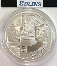 2001 $5 silver coin Reid, Forrest quick  - ex masterpieces set