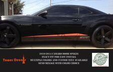 2010-2015 CHEVY CAMARO ROCKER SPIKE DOOR SPEARS RS SS MATTE BLACK VINYL DECALS