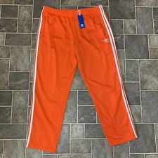 NEW MEN'S ADIDAS ORIGINALS FIREBIRD TRACK PANTS ~ SIZE 2XL  #ED7015  ORANGE
