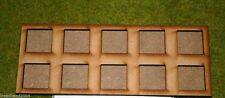 Mdf laser cut Movement Tray (5×2) 25mm Infantry Bases in Skirmish Order