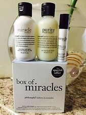 Philosophy Box of Miracles Set 3  Miracle Worker, Purity 2oz c/u  in Box Sealed