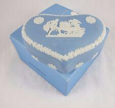 Wedgwood Blue Jasper Jasperware Heart Trinket Box Ulysses Chariot of Victory