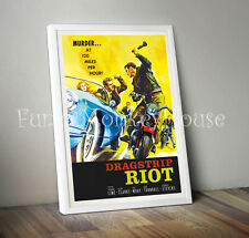Vintage car poster motorsport automobile film poster-A4-Dragstrip Riot